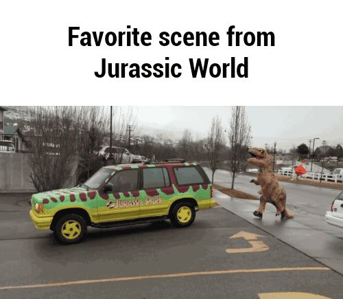 Even though this is in Jurassic Park, it's still funny...