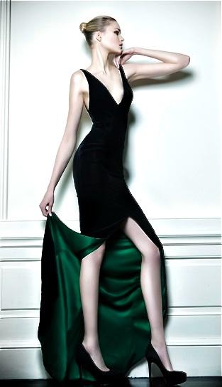 That emerald lining! Celia Kritharioti Couture 2013