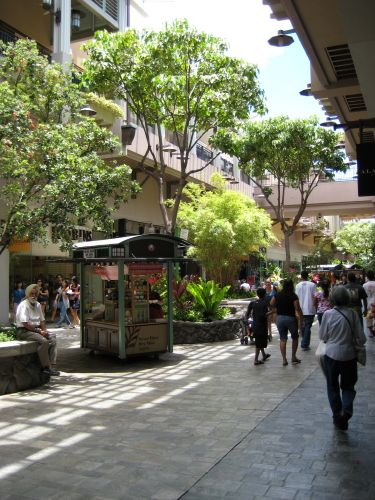 Ala Moana Shopping Center- Largest open-air shopping mall in the world- Honolulu Hawaii