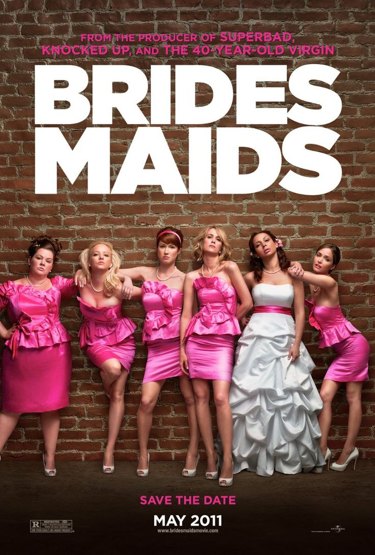 Bridesmaids -- From the producer of Knocked Up, Bridesmaids takes Maid of Honor, Annie (Kristen Wiig), and four wild bridesmaids on a hilarious ride to their friends wedding.