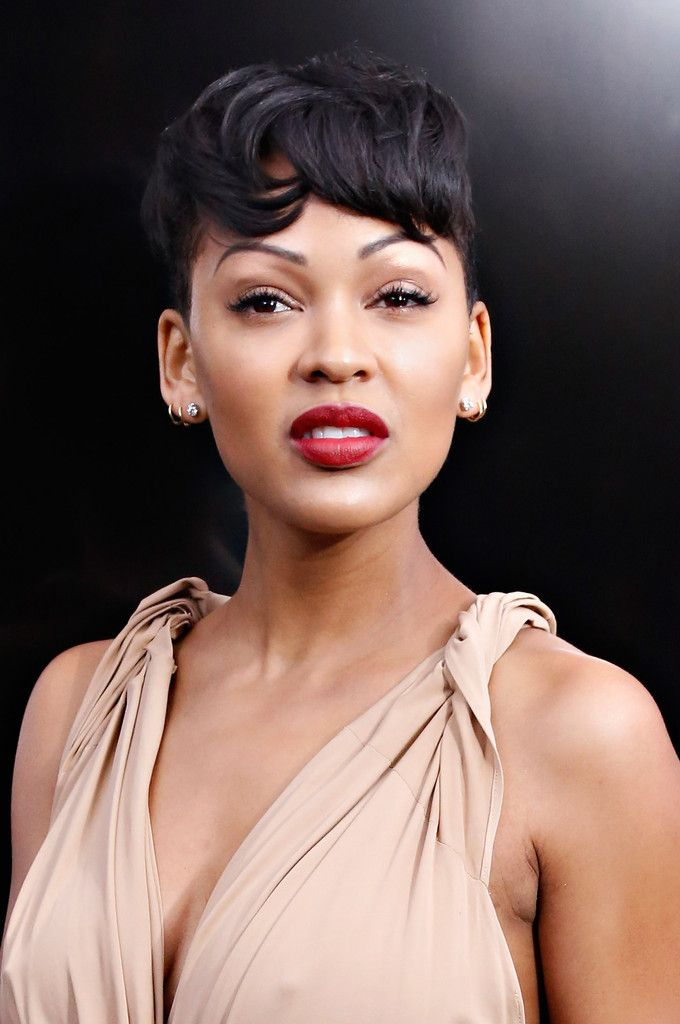 Meagan Good Short cut with bangs - Short Hairstyles Lookbook - StyleBistro