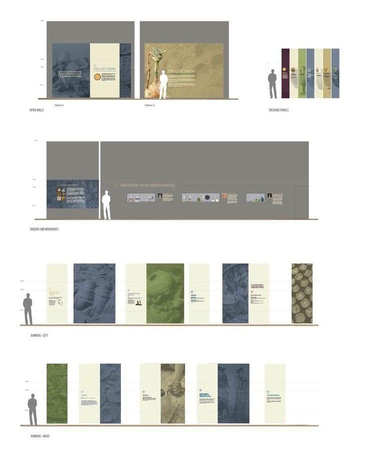 Graphic elevations, Lost Dhow, Aga Khan Museum, Exhibit Design by: Origin Studios Inc.