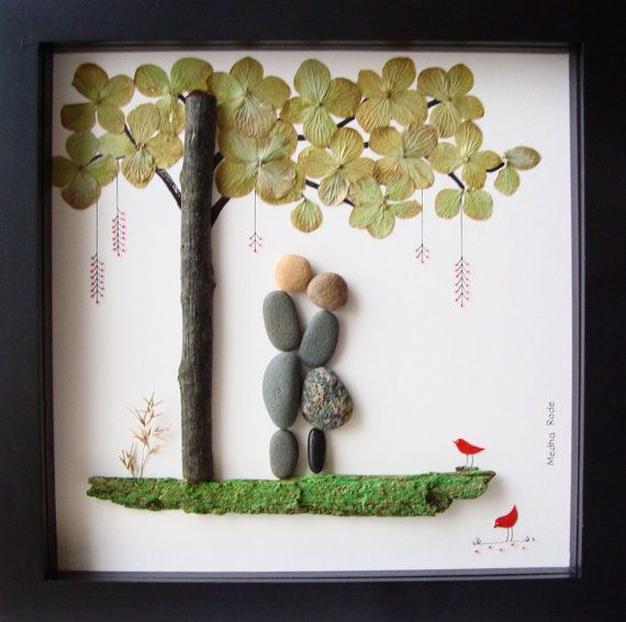 Unique WEDDING Gift - Customized Wedding Gift - Unique Engagement Gift - Love Gifts - Couple's Gift - Pebble Art by MedhaRode on Etsy