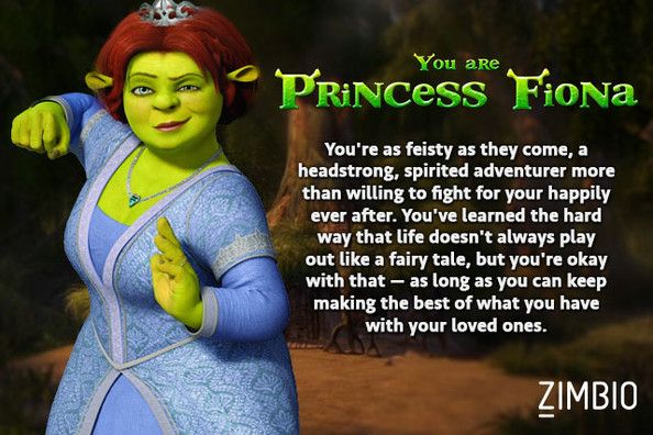 I took Zimbio's 'Shrek' quiz and I'm Princess Fiona! Who are you? #ZimbioQuiz