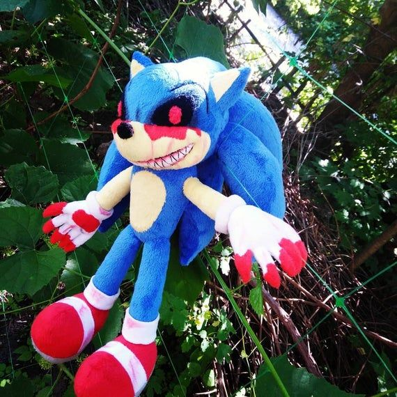 Custom Made Plush Inspired By The Sonic E X E Plush Toy To Etsy In 2020 Are You Happy Sonic Birthday Parties Sonic