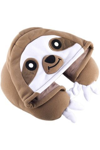 If you have trouble dozing off in strange places, just ask a sloth for help: they sleep up to 18 hours a day! If you can't find a real sloth, our kigurumi-inspired Sloth Neck Pillow will do just fine.