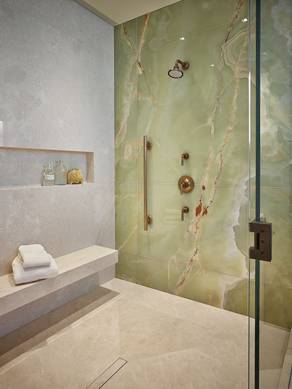 FIRM: NB Design Group | PRODUCT: Crema Marfil, Verde Basillico Vein Cut