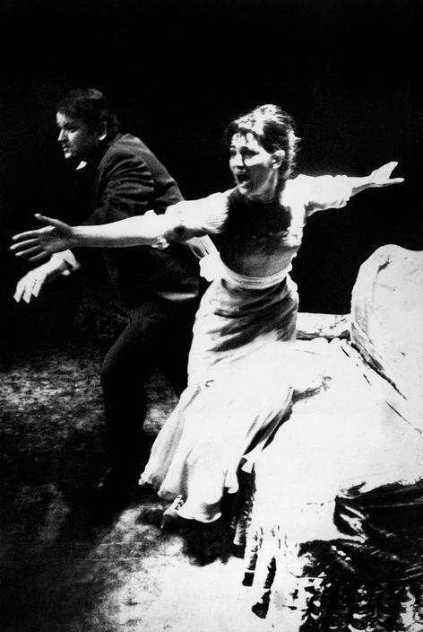 "Josef Koudelka - Czechoslovakia,  Prague, 1970. Theatre Divadlo Za Branou (Beyond the Gate). ""Ivanov"", a play written by Anton Chekov and directed by Otomar Krejca. S)"