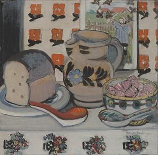 FOR A LITTLE GIRL, 1929, Margaret Preston; On view at Deutscher and Hackett