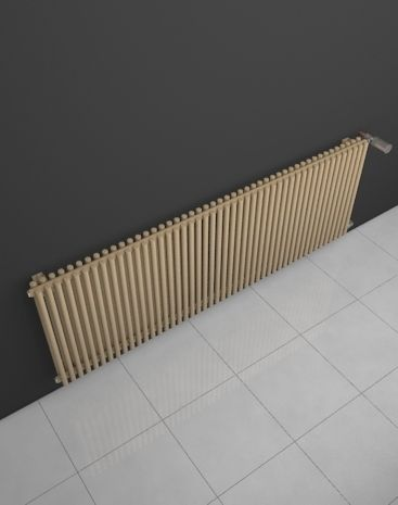 Imperial Twin Line: Modern room radiator HOTHOT. Popular at reconstructions by changing the old heaters. High heat output is the guarantee of comfort in winter months. Classic and middle connection. Central heating radiator made-to-measure. Available in 216 colours. Delivery: 4 weeks.