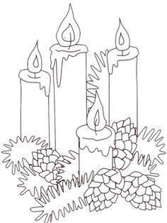 CHRISTmas Candles And Pinecones