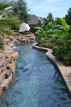 Colleyville Residential Lazy River - tropical - Pool - Dallas - Mike Farley…