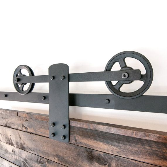 Heavy Duty Industrial Single Strap Sliding Barn Door Closet Hardware  FREE SHIPPING