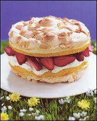 strawberry meringue layer cake, nigella lawson