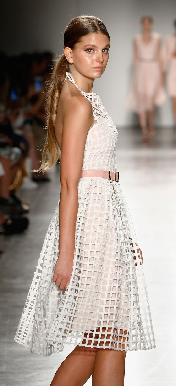 NYFW - lace cage halter dress. Australian designers Sui Generis Style, allows you to customize each design on their website! www.suigeneris-style.com  #custom #NYFW #Australiandesigner #suigeneris #cage #lace #wedding