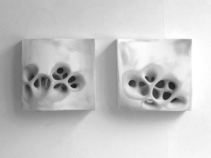 erosion, porosity: vacuum formed acrylic, plastic ...