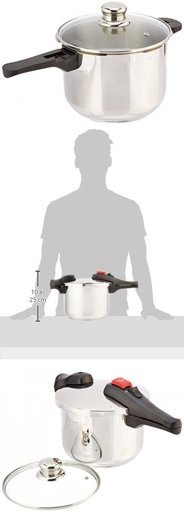 Chef's Design D6 Stainless Steel Dual Function Pressure Cooker, 6-Liter