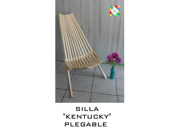Silla de madera de pino hecha a mano. Muy cómoda, usualmente utilizada para descansardebido a la forma que tiene ya que abraza nuestar espalda. La mayor ventaja es que sea PLEGABLE, así que es muy fácil de trasladarse. Color: Madera natural con capa de brillo DIMENSIONES: (silla plegada) 1.30 m (largo) 65 cm (ancho) 30 cm(altura) peso: 4.8 kg *IMPORTANTE: Realizar una compra por artículo ( orden x artículo ) o máximo hasta 2 artículos por orden.