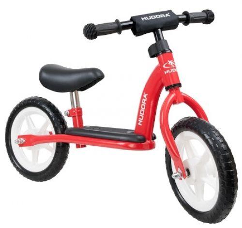 HUDORA loopfiets 'Toddler' met stalen frame van Hoppa-Toys.nl. De HUDORA 'Toddler' loopfiets (rood) is het lage instapmodel van HUDORA. Een basis metalen loopfiets met kunststof wielen en EVA banden die niet lek kunnen. Van 54,95 euro voor 38,95 euro.