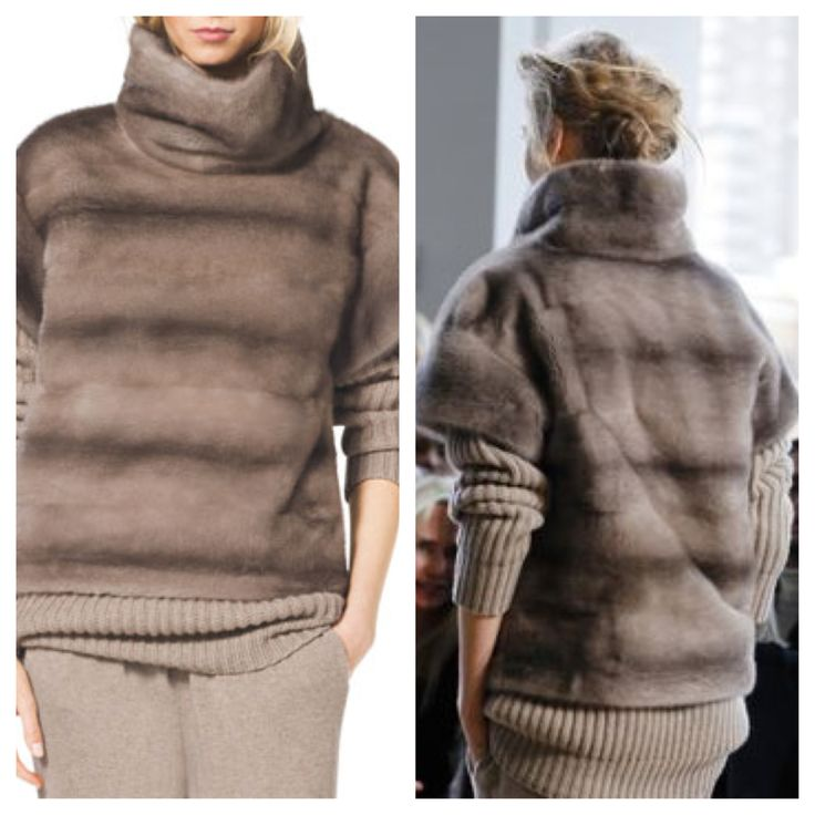 Michael Kors Turtleneck Mink Fur Pullover