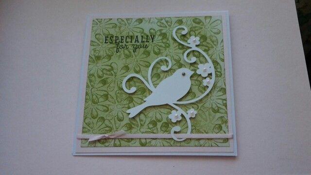 Bird lover card I made...