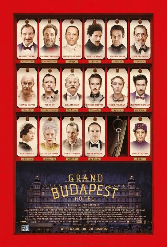 """""""Grand Budapest Hotel"""" - 16 kwietnia 2014, godz. 18:30, Kino Luna Warszawa; 2 maja 2014, godz. 18:30, Kino Iluzja Częstochowa; 11 maja 2014, godz. 18:30, Kino Kinematograf Łódź"""
