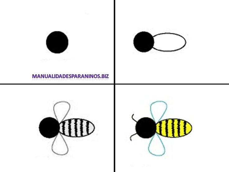Bijen tekenen