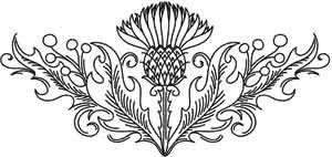 Thistle Crest design (UTH2186) from UrbanThreads.com