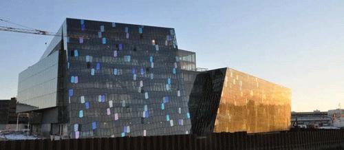 Harpa, Iceland: Henning Larsen Architects HLA, Copenhagen / DK and Batteriid Architects . #architecture #design #commercial #batteriid #larsen #reykjavik #iceland #concert #conference