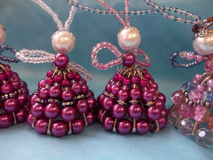 angel ornaments to make | ... beads host of christmas angels these angels are simple and fun to