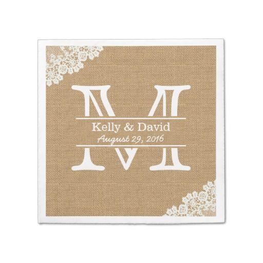 Monogram Paper Napkins Uk: 17 Best Images About Wedding Paper Napkins On Pinterest