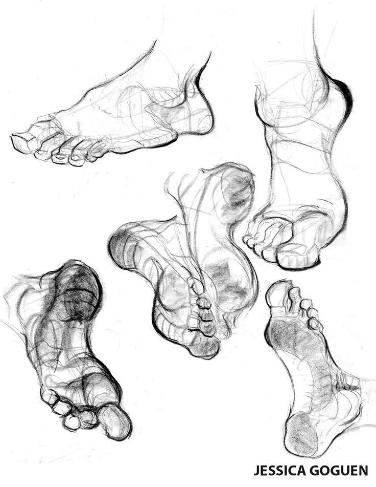 Gorgeous feet drawings
