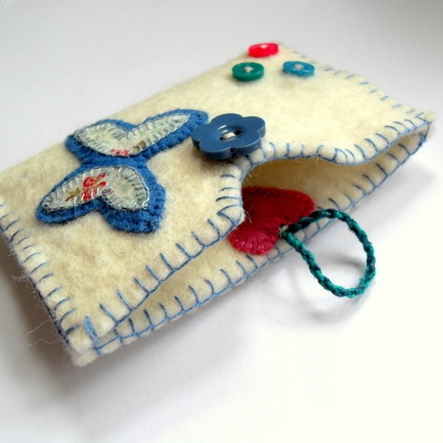 felt busiess card holder