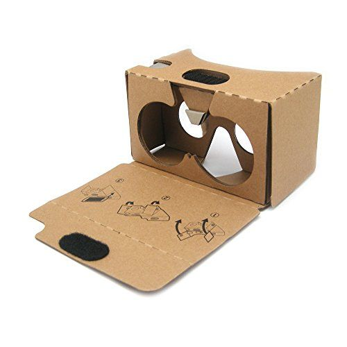 Google Cardboard V2 Inspired Virtual Reality VR Headset by DOMO Cardboard for Android&iPhone