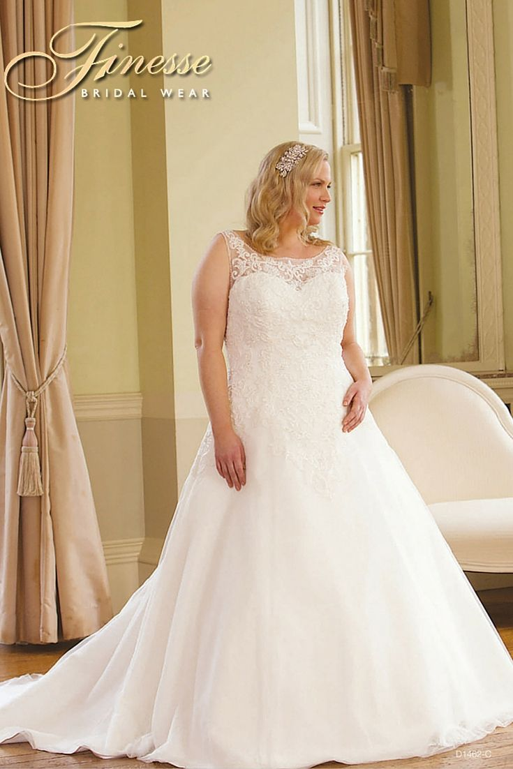 Stunning Wedding Dress for a curvy figure at Finesse Bridal Wear in Listowel, Co Kerry #PrincessBride #FullerFigure