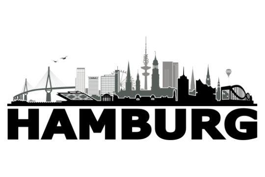 hamburg waterkant 3c von grafikhure taperay wandtattoo ciudades siluetas. Black Bedroom Furniture Sets. Home Design Ideas