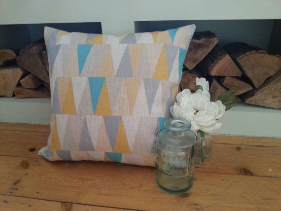 Geometric pillow cover geometric cushion cover in by AUGUSTPLACEUK