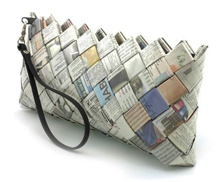 Recycled Newspaper Crafts Pinterest