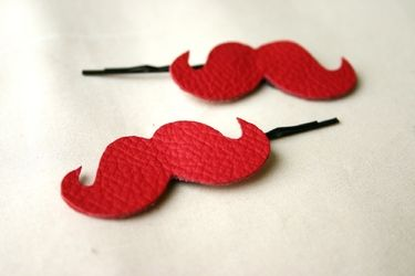 Moustache - Hairpins, leather