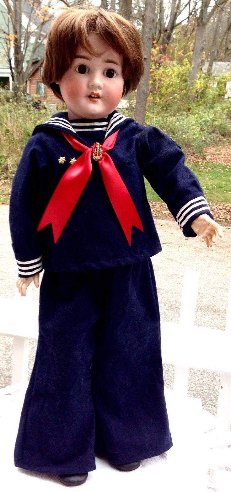 Vintage US NAVY SAILOR Outfit for Vintage, Antique,or Character Doll, Wonderful!   eBay