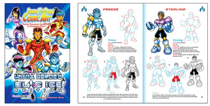 "Learn to Draw Comic Art ""Trick or Treat"" Purchase this book and many others at: www.freeze-dna.com #ultraheroes #blacice #freezedna"