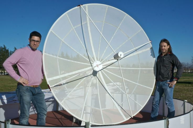 The latest version of Spider230 #radiotelescope is ready! With improved mechanics and parabolic shape, it is now ready for delivery.