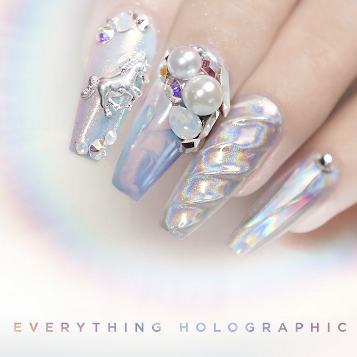 25 best Holo Nails images on Pinterest | Shop, Unicorn and Unicorns