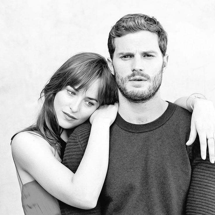 New Outtake of Dakota Johnson and Damie Dornanfor Fifty Shades of Grey Promotional Photoshoot
