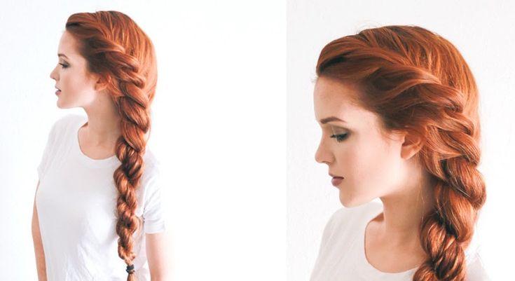 Kordelzopf seitlich selber machen lange Haare #frisuren #hair