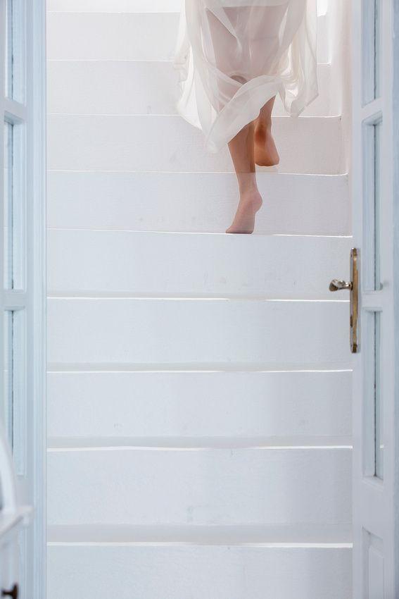 Santorini Steps & A Blue Door