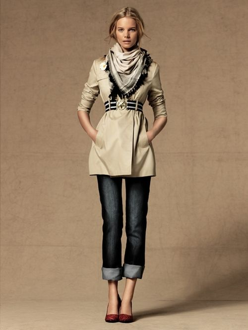 Trench - great scarf