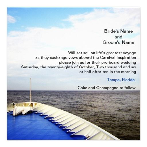 12 best Cruise Wedding Invitations images on Pinterest Cruise
