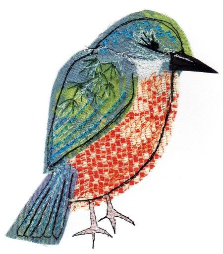 Kingfisher - Sarah Dodd textile More