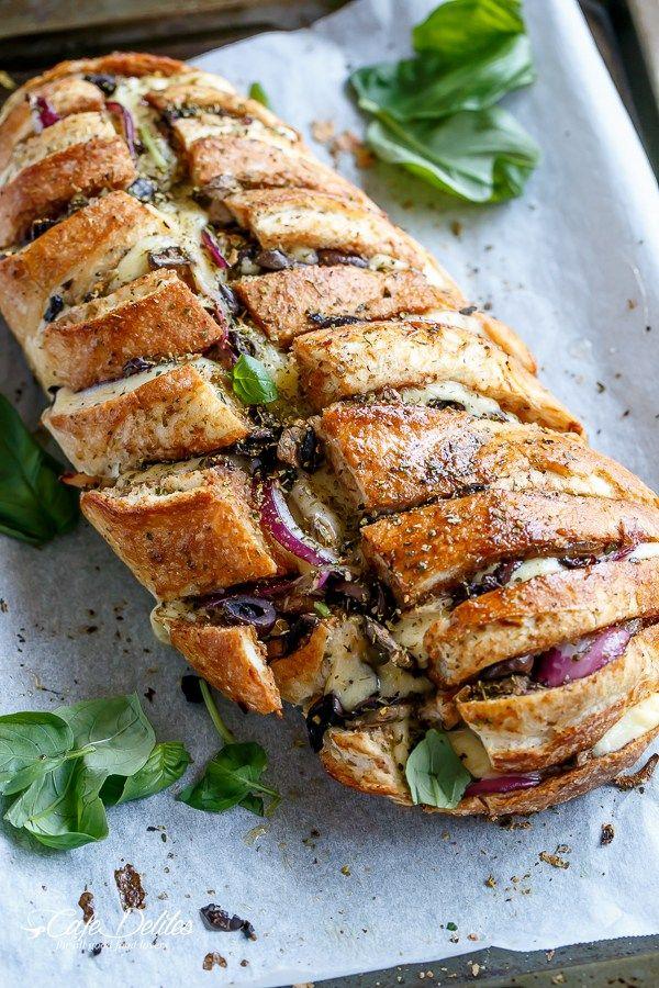 Barbecue Chicken Pizza Stuffed Bread   Cafedelites.com